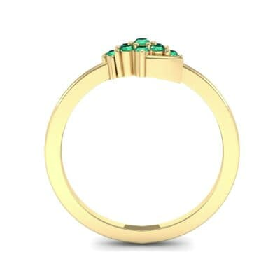Tapered Cluster Emerald Engagement Ring (0.12 CTW) Side View