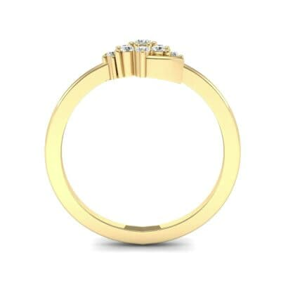 Tapered Cluster Diamond Engagement Ring (0.12 CTW) Side View