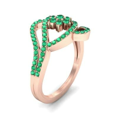 Eye of Horus Emerald Ring (0.44 CTW) Perspective View