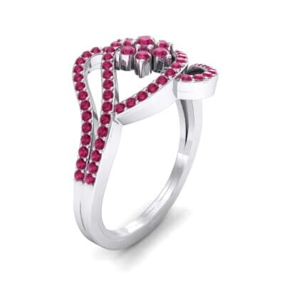 Eye of Horus Ruby Ring (0.44 CTW) Perspective View