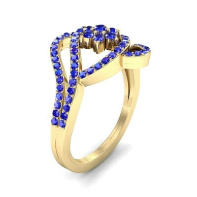 Eye of Horus Blue Sapphire Ring (0.44 CTW) Perspective View