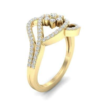 Eye of Horus Diamond Ring (0.44 CTW) Perspective View