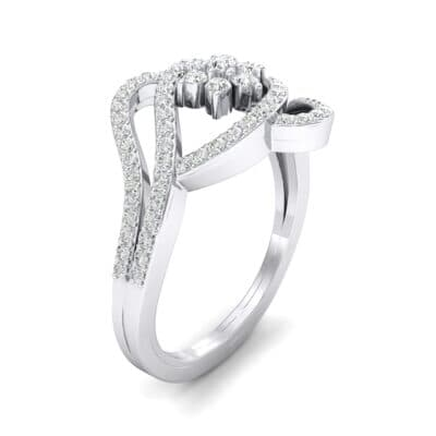 Eye of Horus Diamond Ring (0.44 CTW) Perspective View