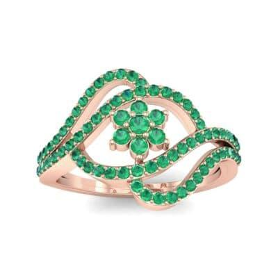 Eye of Horus Emerald Ring (0.44 CTW) Top Dynamic View