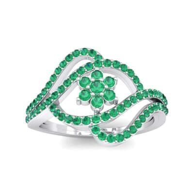 Eye of Horus Emerald Ring (0.44 CTW) Top Dynamic View