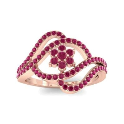 Eye of Horus Ruby Ring (0.44 CTW) Top Dynamic View