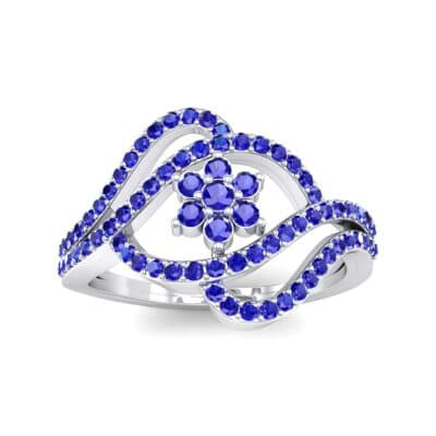 Eye of Horus Blue Sapphire Ring (0.44 CTW) Top Dynamic View