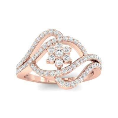 Eye of Horus Diamond Ring (0.44 CTW) Top Dynamic View