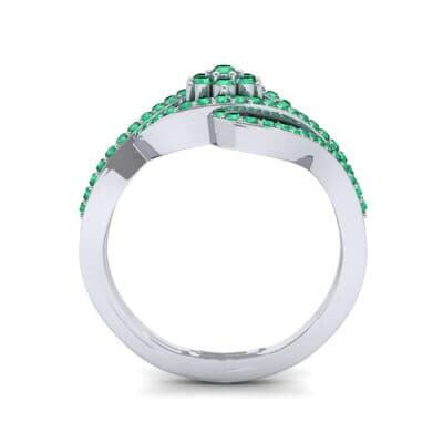 Eye of Horus Emerald Ring (0.44 CTW) Side View