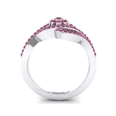 Eye of Horus Ruby Ring (0.44 CTW) Side View