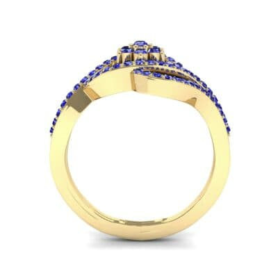 Eye of Horus Blue Sapphire Ring (0.44 CTW) Side View