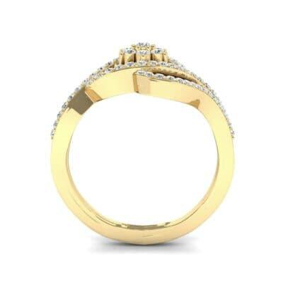 Eye of Horus Diamond Ring (0.44 CTW) Side View