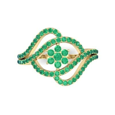 Eye of Horus Emerald Ring (0.44 CTW) Top Flat View