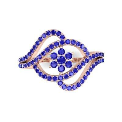 Eye of Horus Blue Sapphire Ring (0.44 CTW) Top Flat View