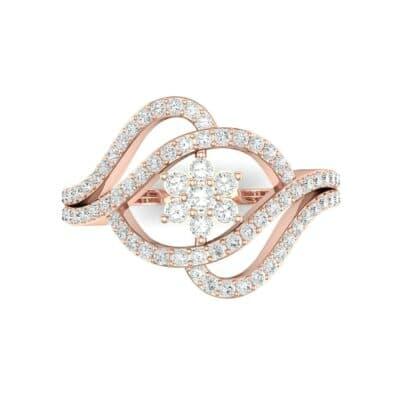Eye of Horus Diamond Ring (0.44 CTW) Top Flat View