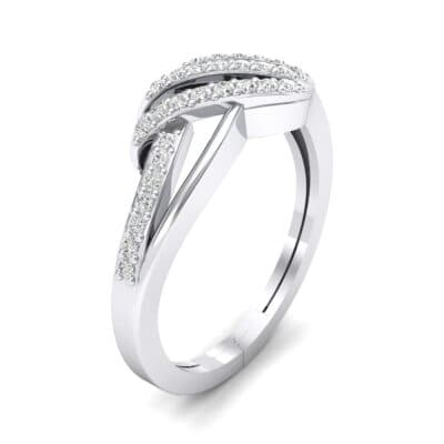 Pave Flight Diamond Ring (0.22 CTW) Perspective View