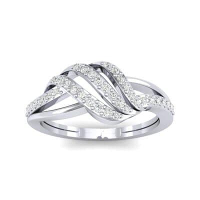 Pave Flight Diamond Ring (0.22 CTW) Top Dynamic View