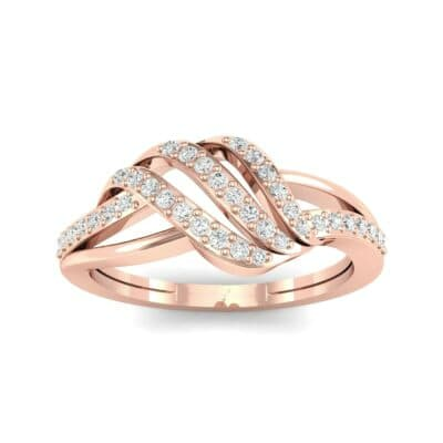 Pave Flight Diamond Ring (0.22 CTW) Top Dynamic View