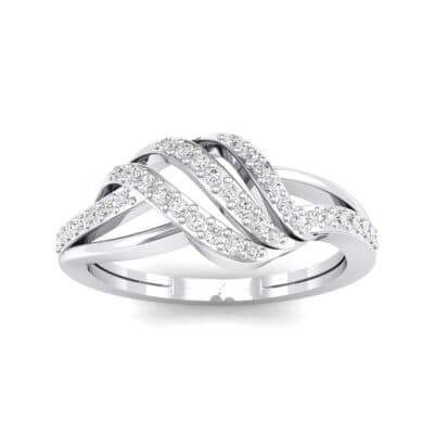 Pave Flight Crystal Ring (0.22 CTW) Top Dynamic View