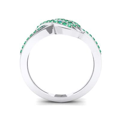 Pave Flight Emerald Ring (0.22 CTW) Side View