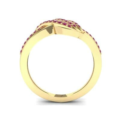 Pave Flight Ruby Ring (0.22 CTW) Side View