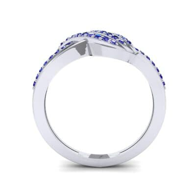 Pave Flight Blue Sapphire Ring (0.22 CTW) Side View