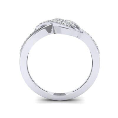 Pave Flight Diamond Ring (0.22 CTW) Side View