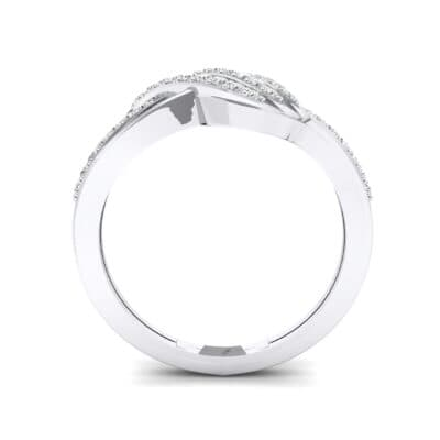 Pave Flight Crystal Ring (0.22 CTW) Side View