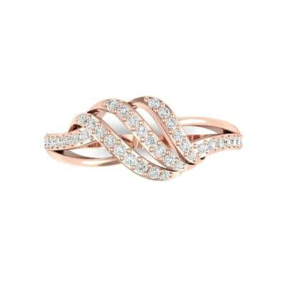 Pave Flight Diamond Ring (0.22 CTW) Top Flat View