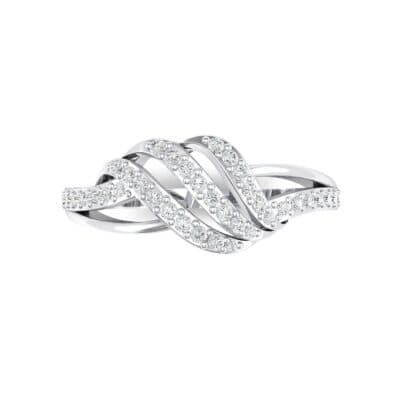 Pave Flight Crystal Ring (0.22 CTW) Top Flat View