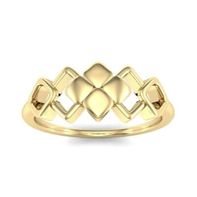 One-Tone Squarish Ring (0 CTW) Top Dynamic View