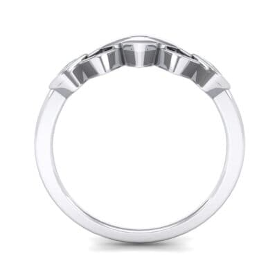 One-Tone Squarish Ring (0 CTW) Side View