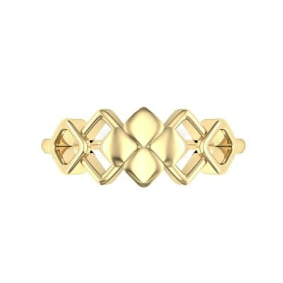 One-Tone Squarish Ring (0 CTW) Top Flat View
