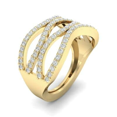 Flux Pave Diamond Ring (0.56 CTW) Perspective View