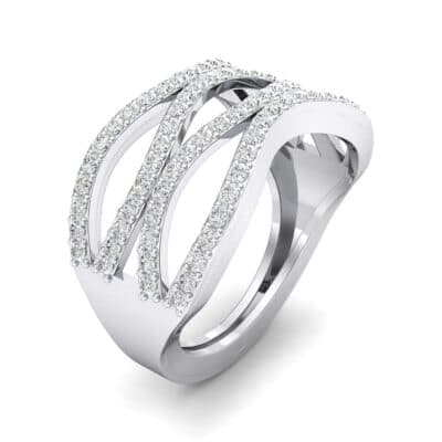 Flux Pave Crystal Ring (0.56 CTW) Perspective View