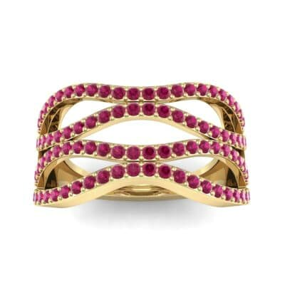 Flux Pave Ruby Ring (0.56 CTW) Top Dynamic View