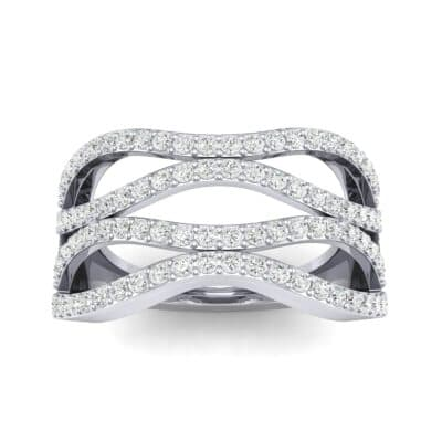 Flux Pave Diamond Ring (0.56 CTW) Top Dynamic View