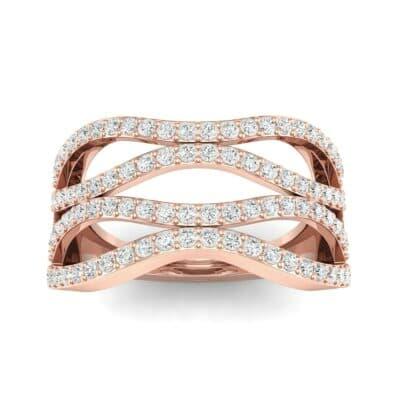 Flux Pave Diamond Ring (0.56 CTW) Top Dynamic View