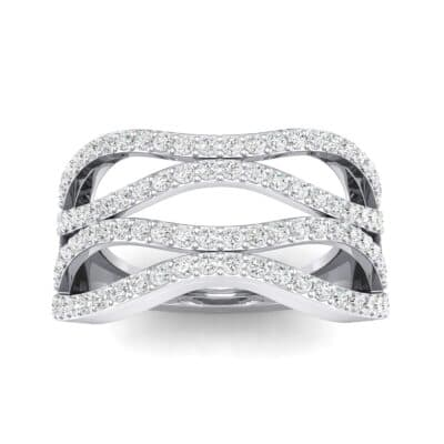 Flux Pave Crystal Ring (0.56 CTW) Top Dynamic View