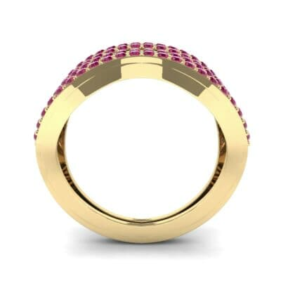 Flux Pave Ruby Ring (0.56 CTW) Side View