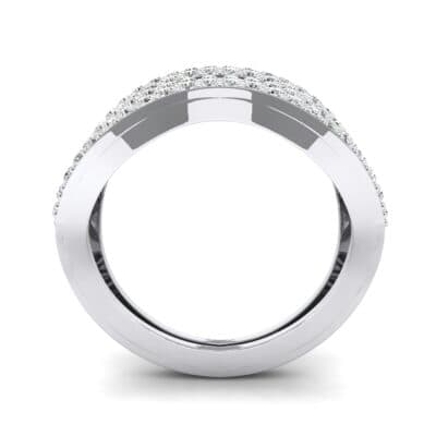 Flux Pave Crystal Ring (0.56 CTW) Side View