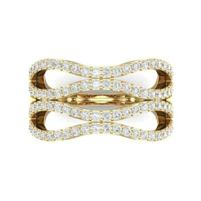 Flux Pave Diamond Ring (0.56 CTW) Top Flat View