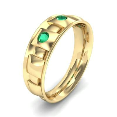Tile Emerald Ring (0.33 CTW) Perspective View
