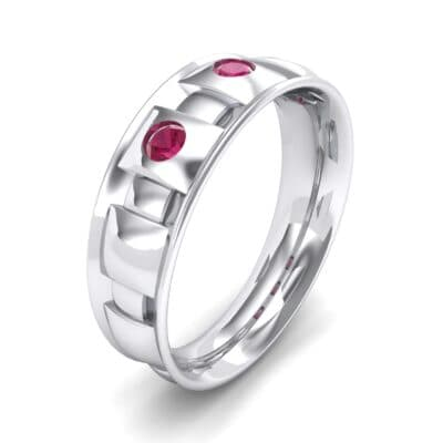 Tile Ruby Ring (0.33 CTW) Perspective View