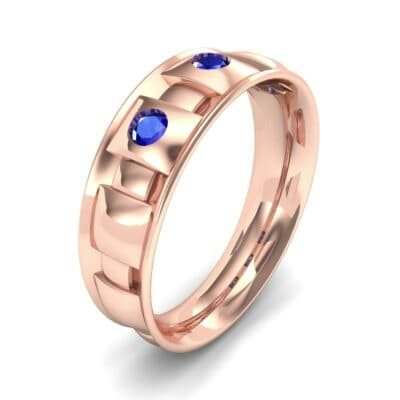 Tile Blue Sapphire Ring (0.33 CTW) Perspective View
