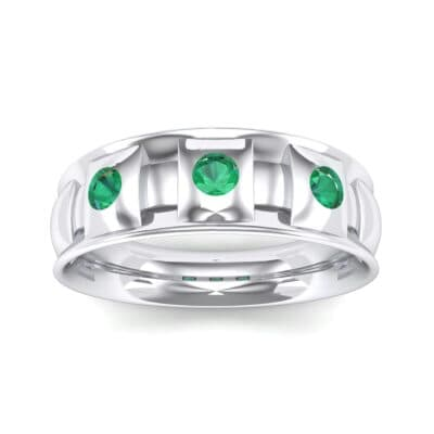 Tile Emerald Ring (0.33 CTW) Top Dynamic View