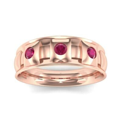Tile Ruby Ring (0.33 CTW) Top Dynamic View