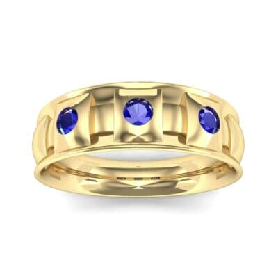 Tile Blue Sapphire Ring (0.33 CTW) Top Dynamic View
