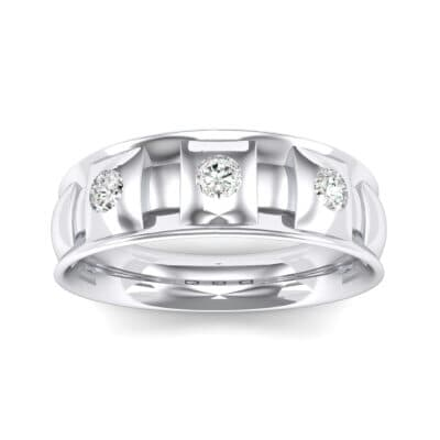 Tile Crystal Ring (0.33 CTW) Top Dynamic View