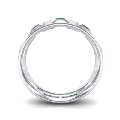 Tile Emerald Ring (0.33 CTW) Side View